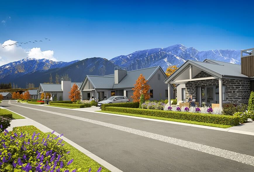 Locals hurry to secure arrowtown retirement lifestyle for Retirement village house plans